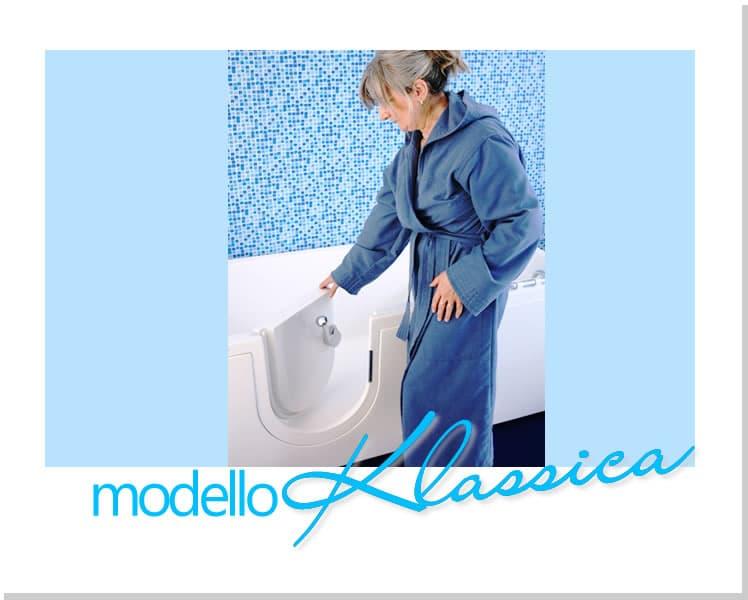 Accesso facilitato alla vasca